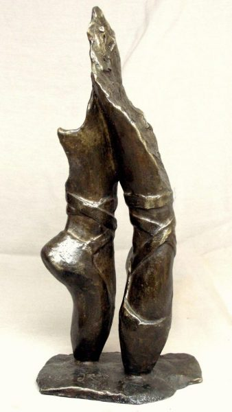 Dancer's feet sculpture