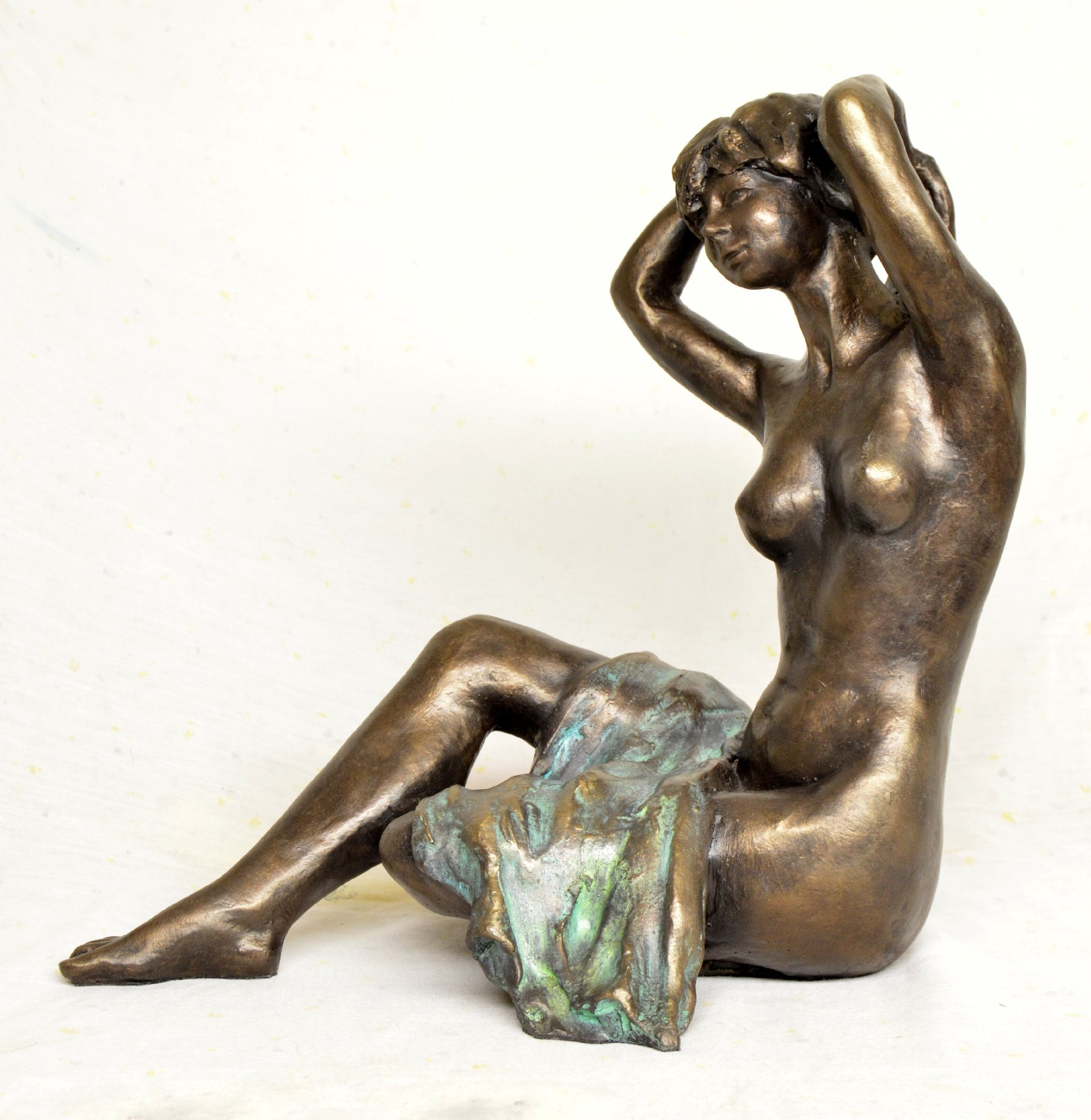 Nude woman cold cast bronze sculpture