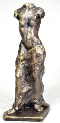 Woman sculpture with nude torse