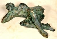 Statue limited edition, man lying on the floor