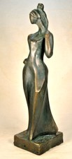 Statue figure on a limited edition , woman with hand  at her hip
